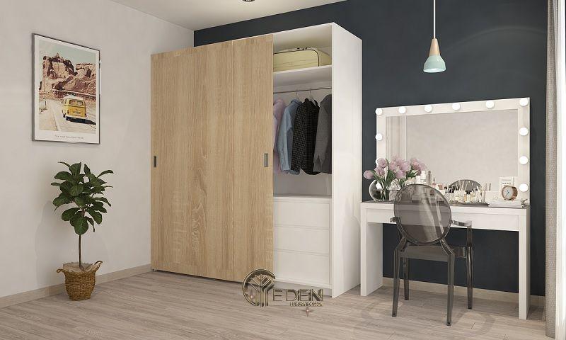 Mẫu tủ quần áo cửa lùa đơn giản, dễ dóng tại nhà (1)