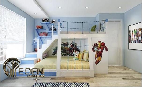 Giường tầng thiết kế đa dạng, màu sắc bắt mắt và sang trọng cho không gian
