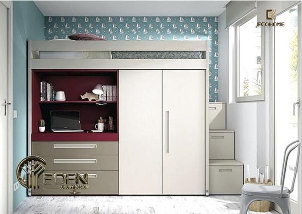 Giường tầng kết hợp tủ quần áo thông minh