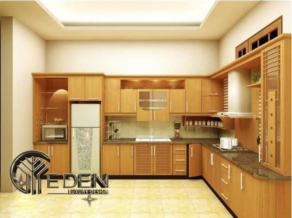 Tủ bếp gỗ căm xe tiện dụng, chất lượng