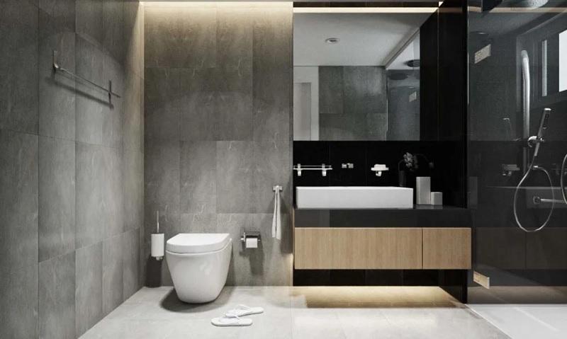 Mẫu nhà vệ sinh hiện đại, đơn giản