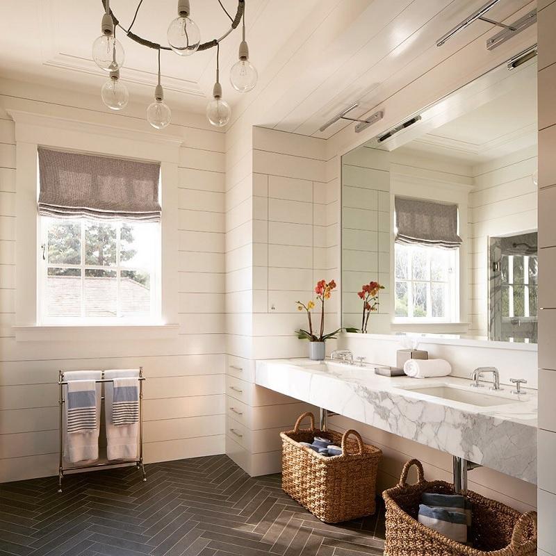 Mẫu nhà vệ sinh phong cách tân cổ điểnđơn giản, ấm áp