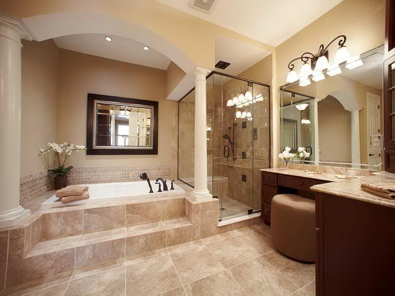 Mẫu nhà vệ sinh phong cách tân cổ điển ấm áp, sang trọng
