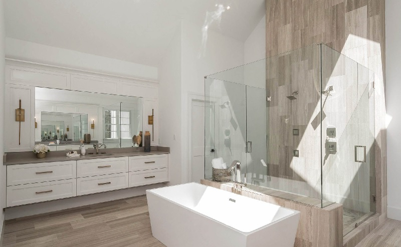 Mẫu nhà vệ sinh phong cách tối giản cho không gian rộng