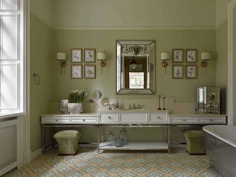 Mẫu nhà vệ sinh phong cách cổ điển