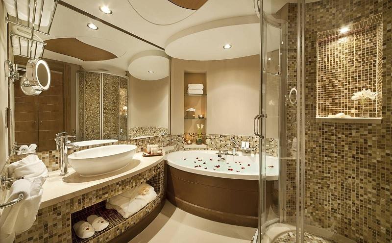 Mẫu nhà vệ sinh phong cách cổ điển cho không gian rộng