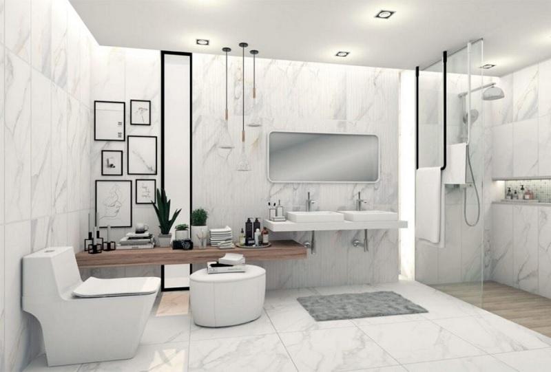 Xác định diện tích không gian phòng tắm