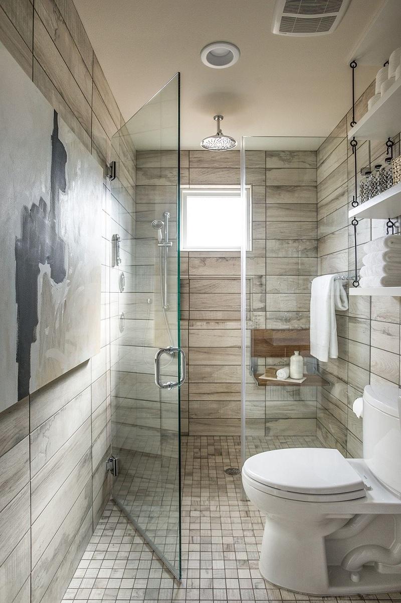 Thiết kế lối vào phòng tắm thông minh
