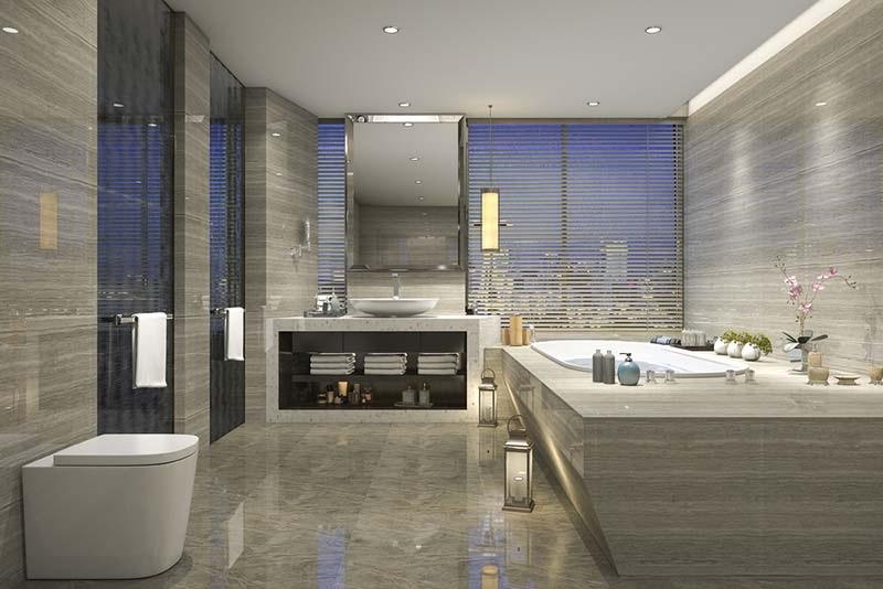 Mẫu nhà vệ sinh hiện đại cho biệt thự