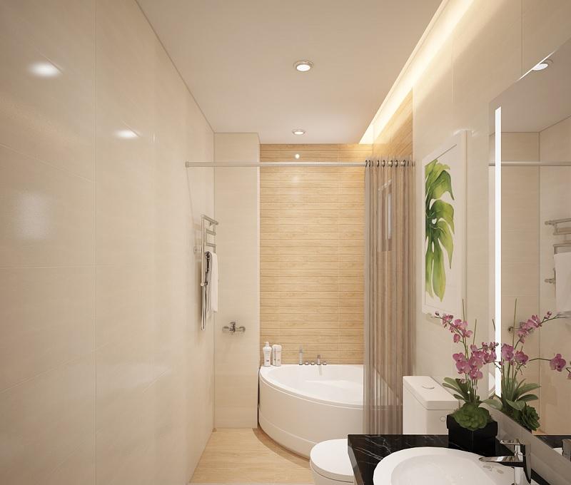 Thiết kế bồn tắm tam giác