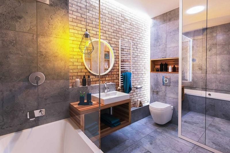 Mẫu nhà vệ sinh hiện đại cho biệt thự sang trọng với lối thiết kế mới lạ