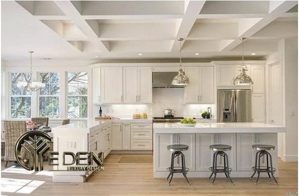 Nội thất nhà bếp đơn giản, sang trọng, tiện nghi