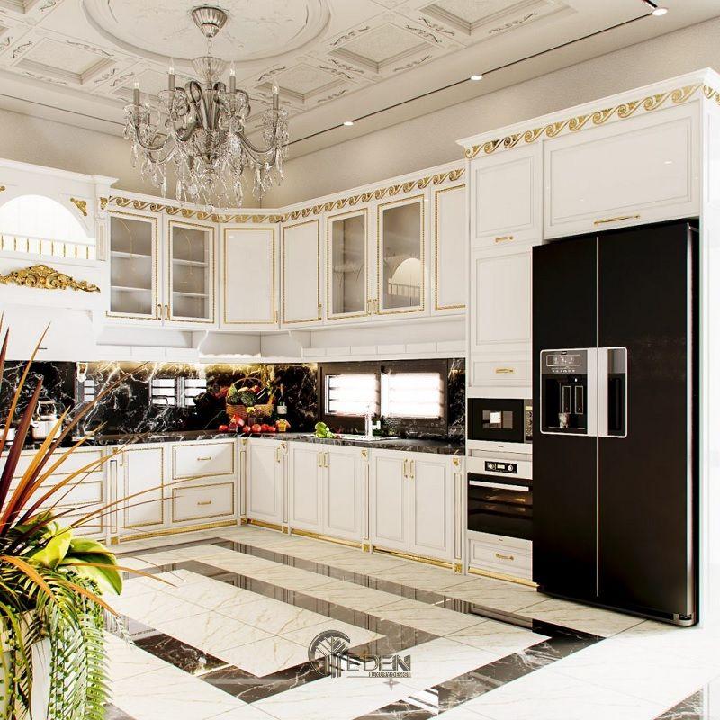 Thiết kế nội thất biệt thự phòng Bếp – Mẫu 1