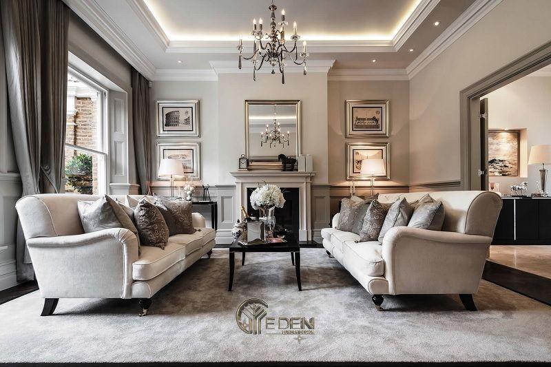 Thiết kế thi công nội thất biệt thự phòng khách – mẫu 4