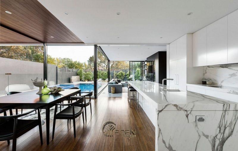 Thiết kế nội thất biệt thự phòng Bếp – Mẫu 2