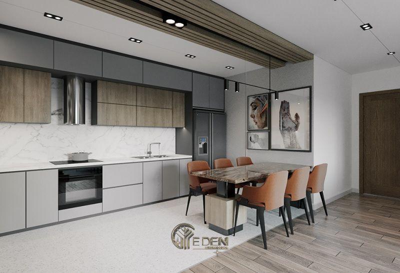 Thiết kế thi công nội thất biệt thự phòng Bếp – Mẫu 4