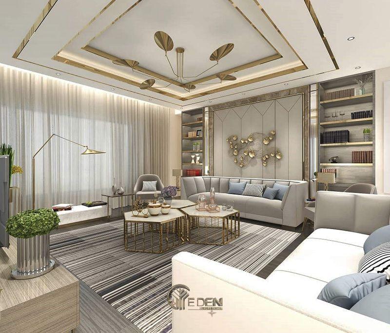 Thi công nội thất biệt thự phòng khách – mẫu 2