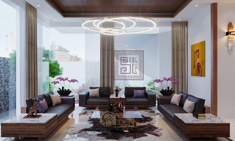 Thiết kế Thi công nội thất biệt thự phòng khách – mẫu 3