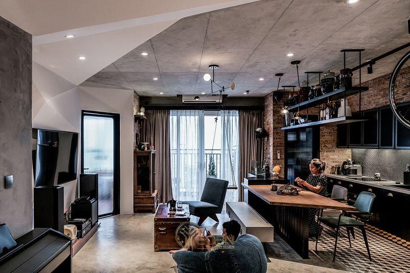 Mẫu thiết kế, thi công nội thất chung cư cao cấp – Mẫu 3