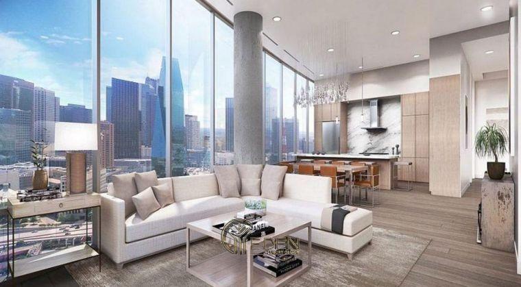 Mẫu thiết kế, thi công nội thất chung cư cao cấp – Mẫu 4