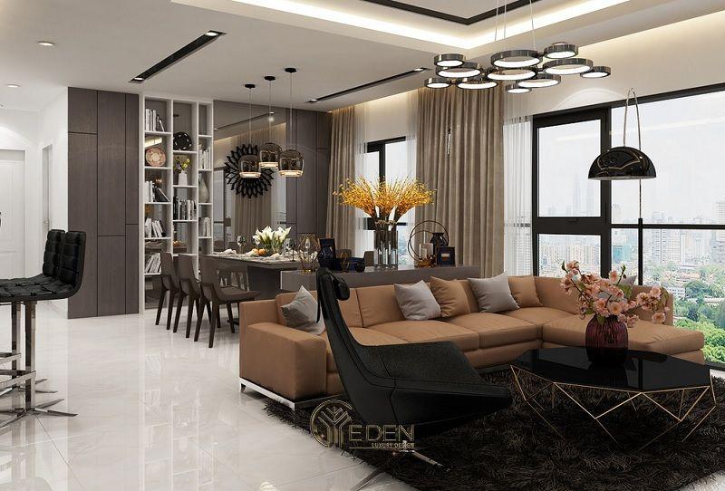 Mẫu thiết kế, thi công nội thất chung cư cao cấp – Mẫu 6