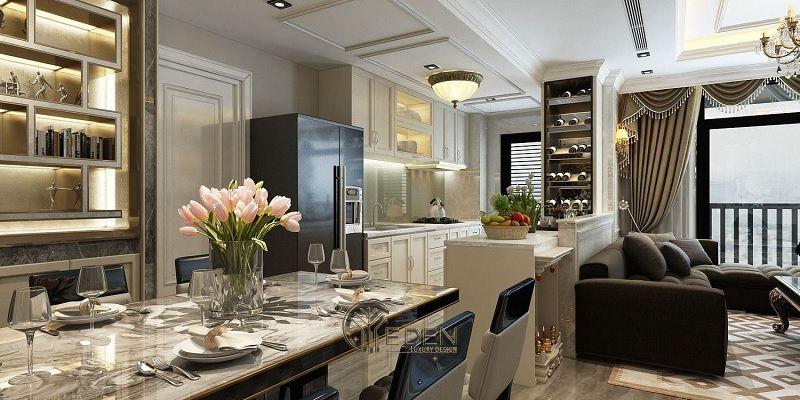 Mẫu thiết kế, thi công nội thất chung cư cao cấp – Mẫu 9