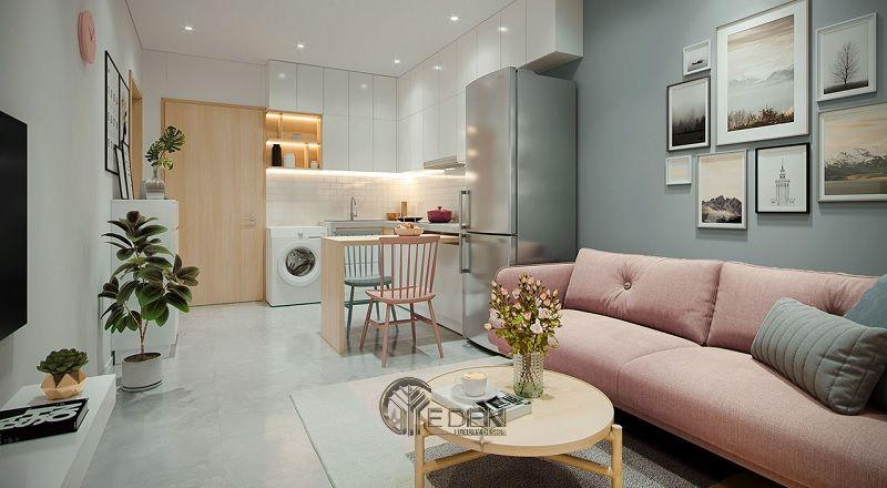 Những mẫu thiết kế, thi công nội thất chung cư giá rẻ - Mẫu 6