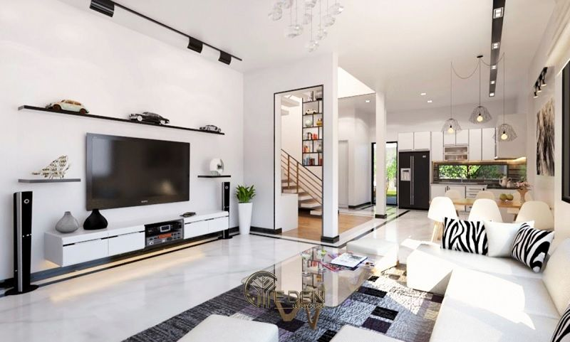 Công ty thiết kế nội thất MOON Design - Công trình của đơn vị thi công nội thất mang đặc điểm tối giản và nhỏ gọn.