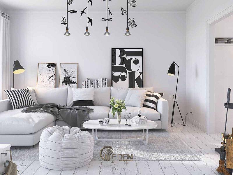 Công ty thiết kế nội thất MOON Design - Chỉ với 2 màu đen và trắng, bức tranh của cả căn phòng hiện lên giống như một kiệt tác nghệ thuật