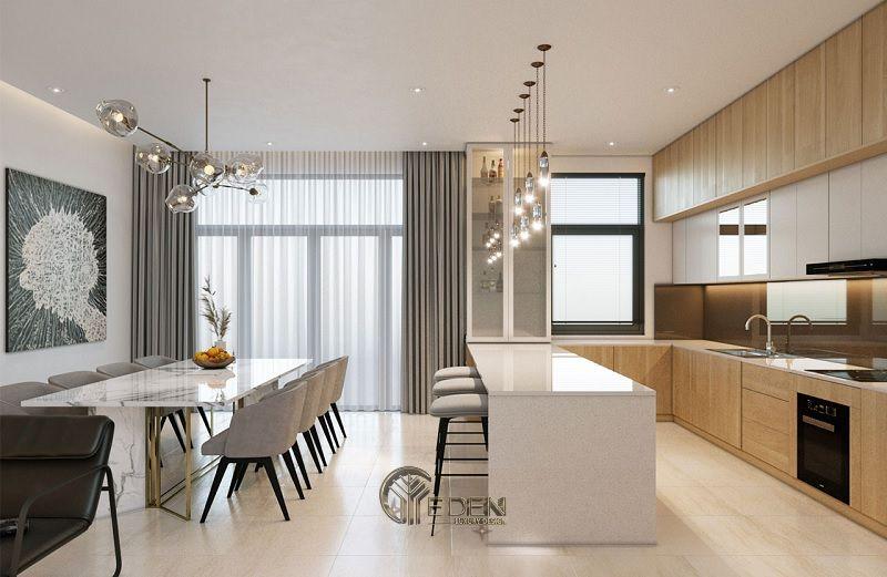 Công ty nội thất Wonder - Bằng việc sử dụng gam màu nhẹ như trắng sữa cùng chất liệu gỗ khiến cho không gian trở nên yên bình, thư thái đến lạ.