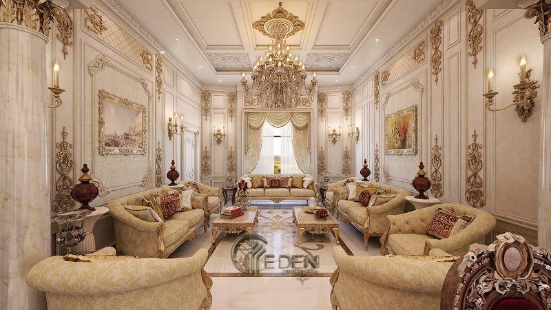 Trang trí nội thất phòng khách với phong cách cổ điển (1)