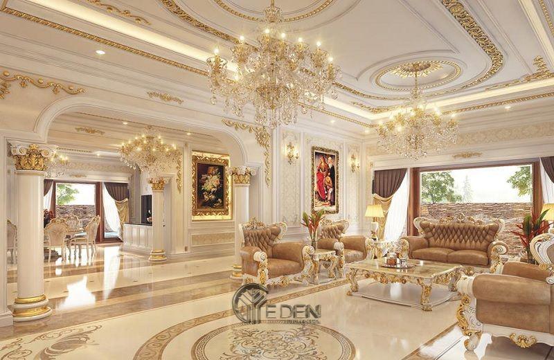 Thiết kế nội thất phòng khách với phong cách cổ điển (2)