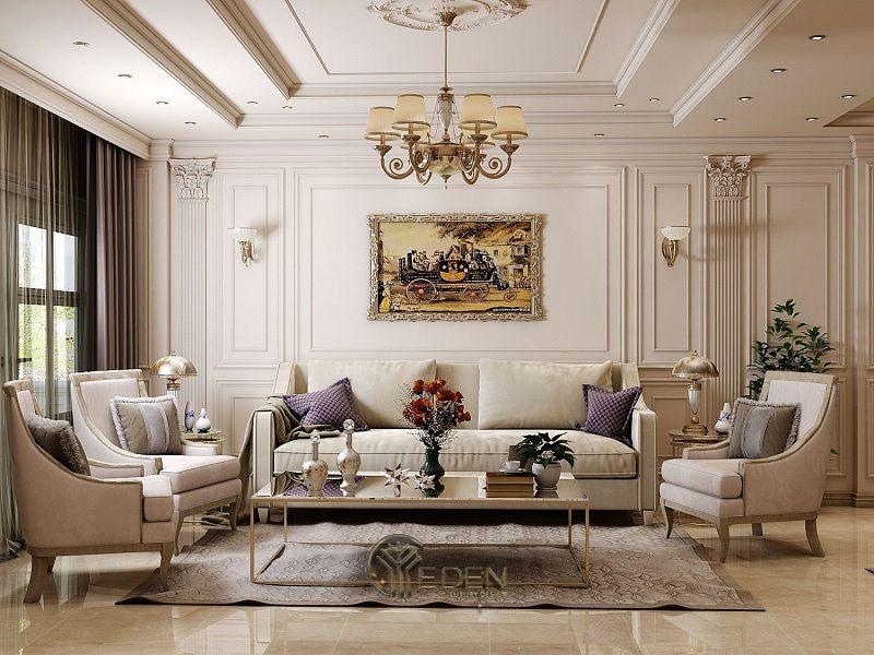 Trang trí nội thất phòng khách với phong cách tân cổ điển (5)