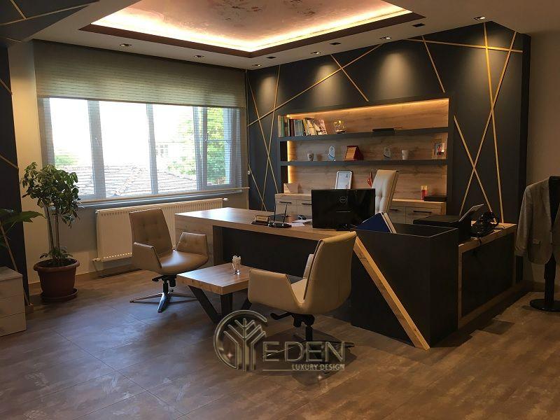 Thiết kế thi công nội thất văn phòng tại hà nội – Phòng giám đốc mang phong cách Retro, cổ điển tạo động lực sáng tạo, kiểm soát công việc tốt nhất