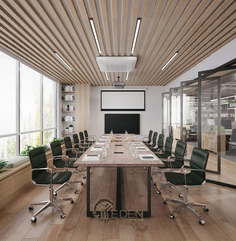Thiết kế, thi công nội thất văn phòng Hà Nội – Phòng họp mẫu 1