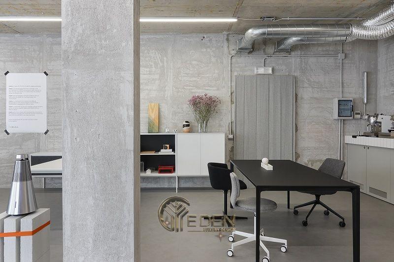 Thiết kế, thi công nội thất văn phòng Hà Nội – Phòng làm việc của nhân viên theo phong cách tối giản, tinh tế