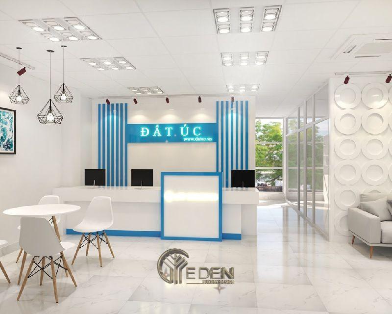 Thiết kế, thi công nội thất văn phòng Hà Nội – Quầy lễ tân