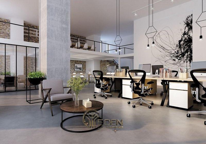 Thiết kế, thi công nội thất văn phòng Hà Nội – Phòng làm việc của nhân viên