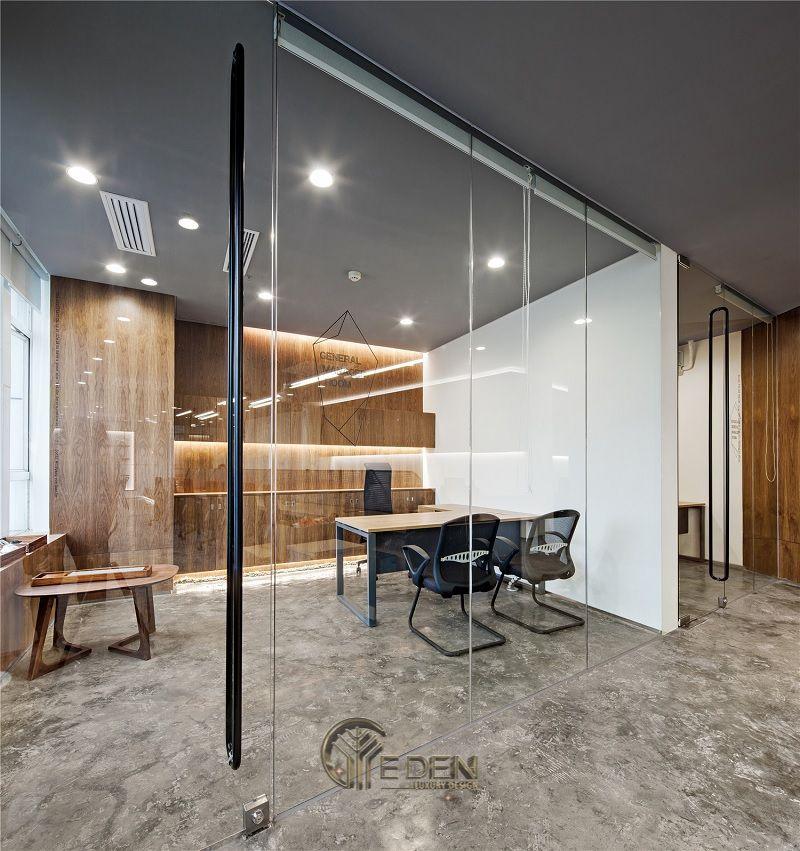 Thiết kế thi công nội thất văn phòng tại hà nội – Phòng giám đốc mang phong cách hiện đại tối giản