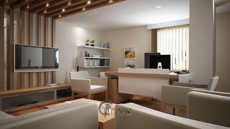 Thiết kế thi công nội thất văn phòng tại hà nội – Phòng giám đốc mang phong cách tân cổ điển nhẹ nhàng, tạo cảm giác thoải mái