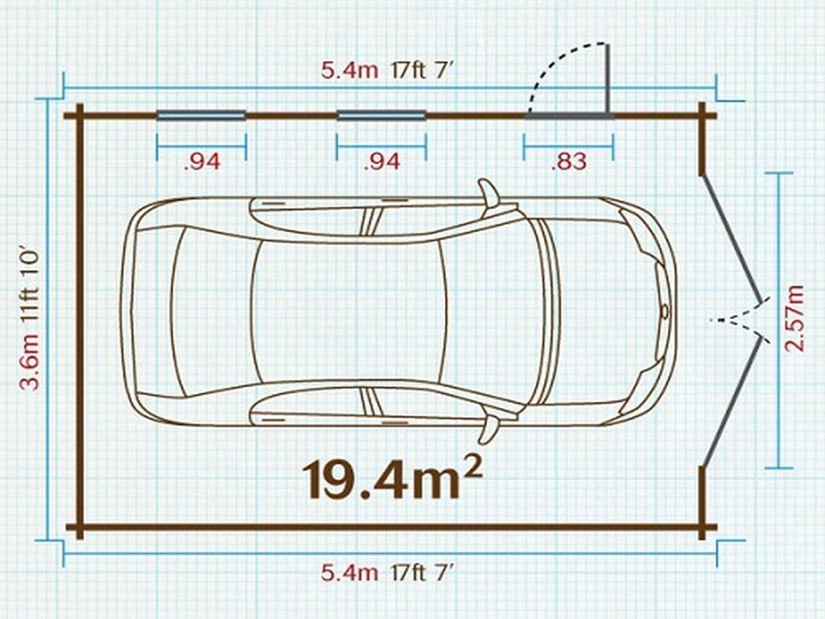 Diện tích tiêu chuẩn của gara để xe trong nhà