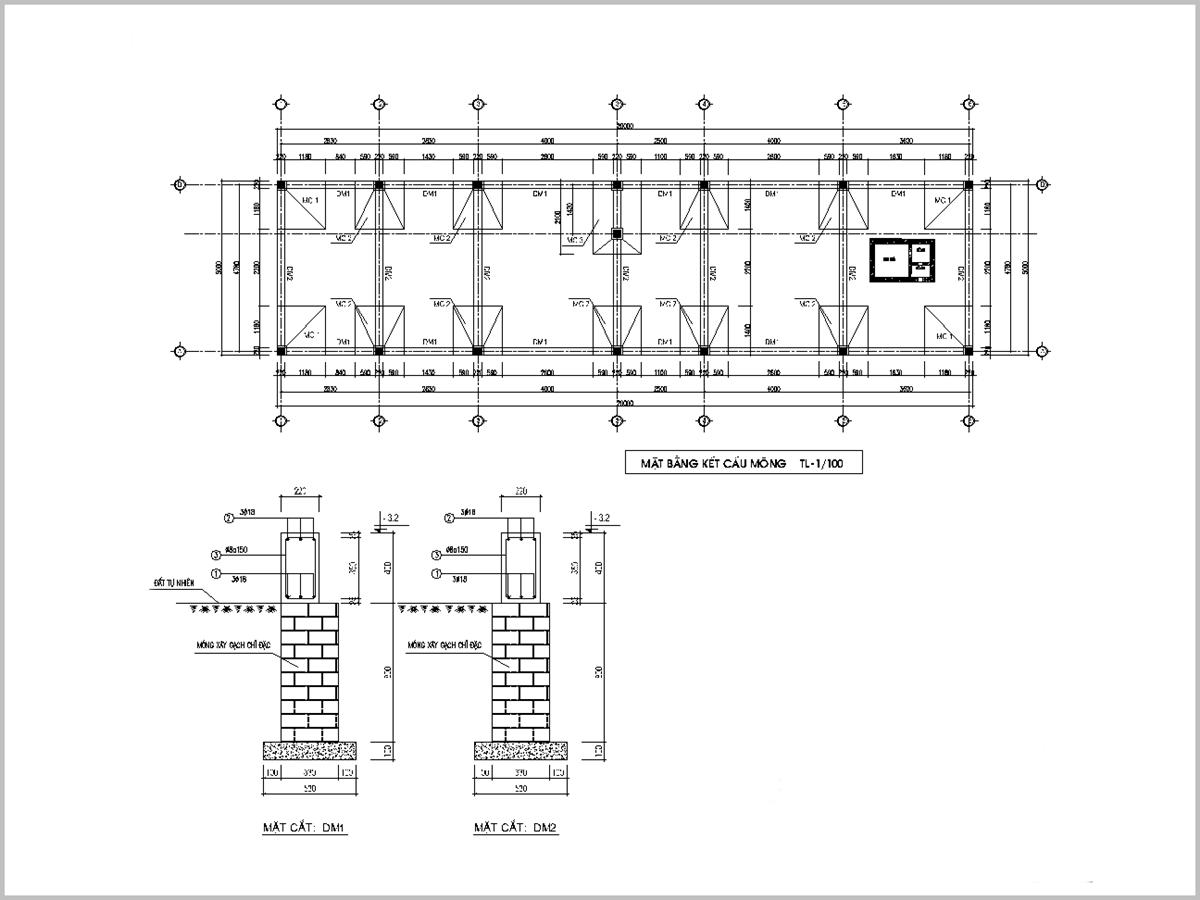 Bản thiết kế nhà cấp 4 60m2 giúp khách hàng và đơn vị thi công hiểu rõ về công trình