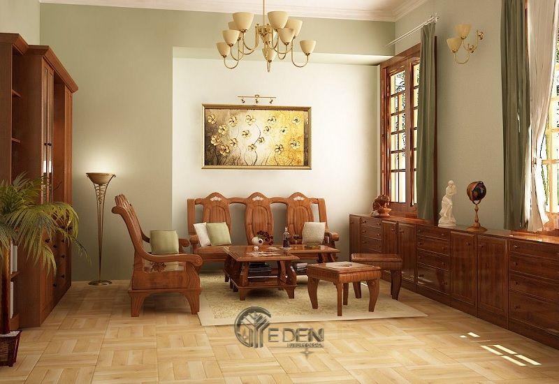 Thiết kế nội thất nhà cấp 4 nông thôn theo phong cách cổ điển
