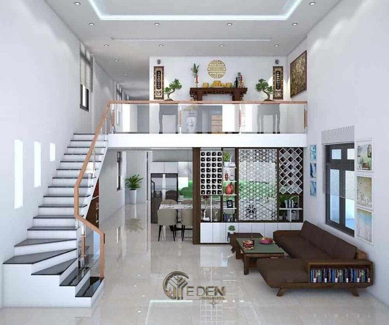 Thiết kế nội thất nhà cấp 4 hiện đại có gác lửng
