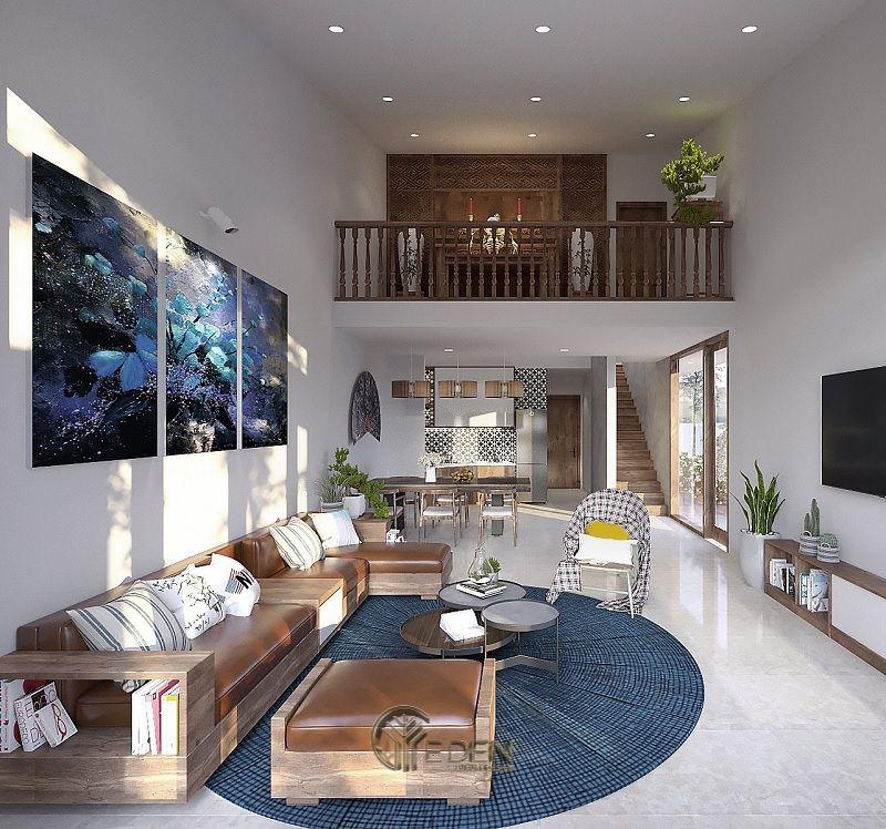 Mẫu thiết kế nội thất nhà cấp 4 nông thôn thanh bình với tầng gác lửng