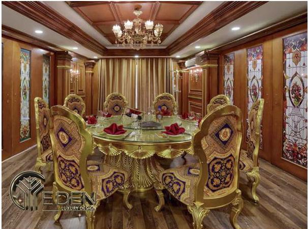 Thiết kế phòng ăn cho biệt thự trang trọng, ấn tượng
