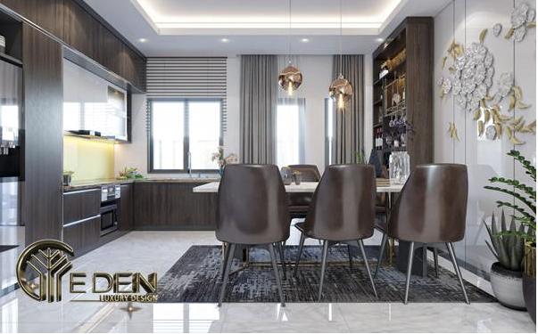 Thiết kế phòng ăn mang phong cách hiện đại