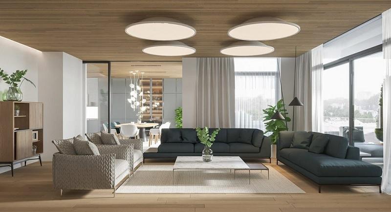 Trang trí nội thất phòng khách với phòng cách hiện đại (1)