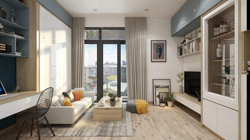 Thiết kế nội thất phòng khách với phòng cách hiện đại (2)