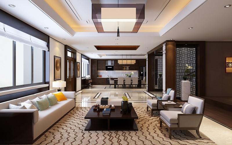 Trang trí nội thất phòng khách với phòng cách hiện đại (3)